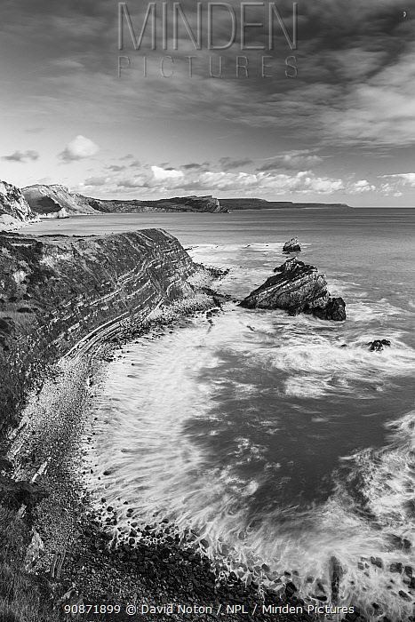 Mupe Bay, Jurassic Coast, Dorset, England, UK. January 2020.