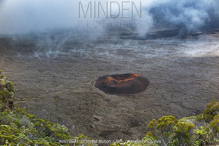 Formica Leo (a small volcanic crater), Piton de la Fournaise Volcano, Reunion Island.