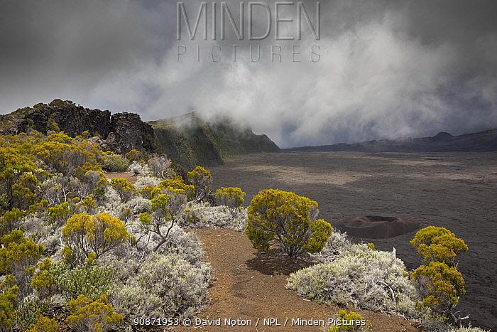 The Remparts de Bellecombe, Piton de la Fournaise Volcano, Reunion Island.