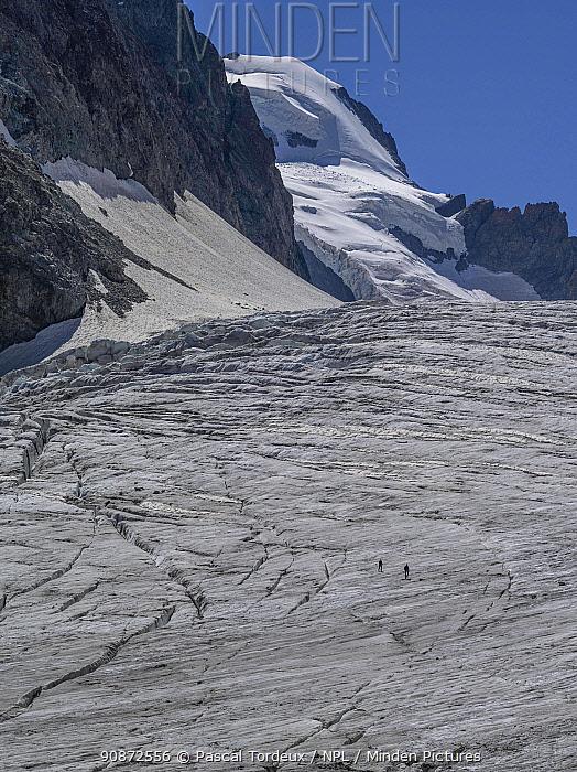 Glacier Blanc, Ecrins, Hautes Alpes, France, August 2020.