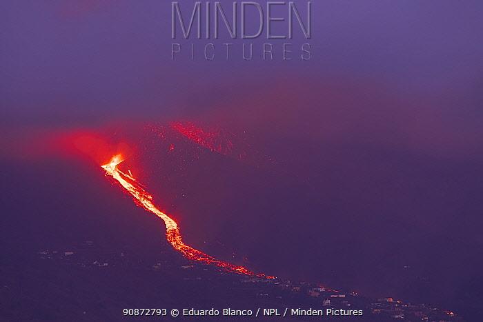 Lava flow, Cumbre Vieja Volcano, La Palma. Canary Islands. Spain. Europe. September 2021
