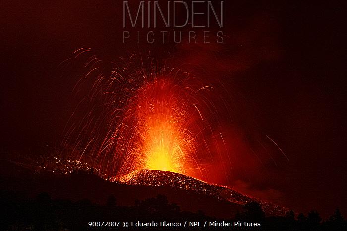 Volcanic eruption, Cumbre Vieja Volcano, La Palma,Canary Islands. Spain. Europe. September 2021.