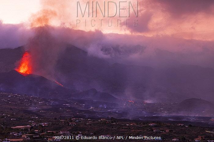 Volcanic eruption, Cumbre Vieja Volcano, La Palma, Canary Islands. Spain. Europe. September 2021