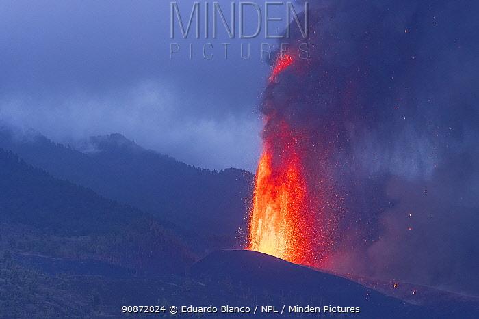 Volcanic eruption, Cumbre Vieja Volcano, La Palma. Canary Islands. Spain. Europe. September 2021