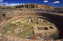 Ruins of Chetro Ketl, ancestral Puebloan culture, AD 850-1250 Chaco Canyon, Chaco Culture National Historical Park, New Mexico  -  Wil Meinderts/ Buiten-beeld