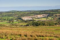 Quarry in countryside, Larne, County Antrim, Northern Ireland, September  -  Wayne Hutchinson/ FLPA