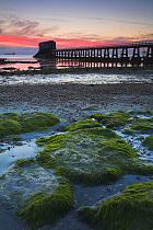 Bembridge lifeboat pier at sunrise, Isle of Wight, Hampshire, England  -  Adam Burton/ npl
