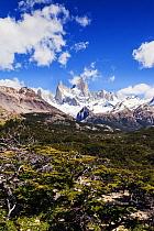 Mount Fitzroy (Fitz Roy), near El Chalten, Argentina. Patagonia. January 2014.